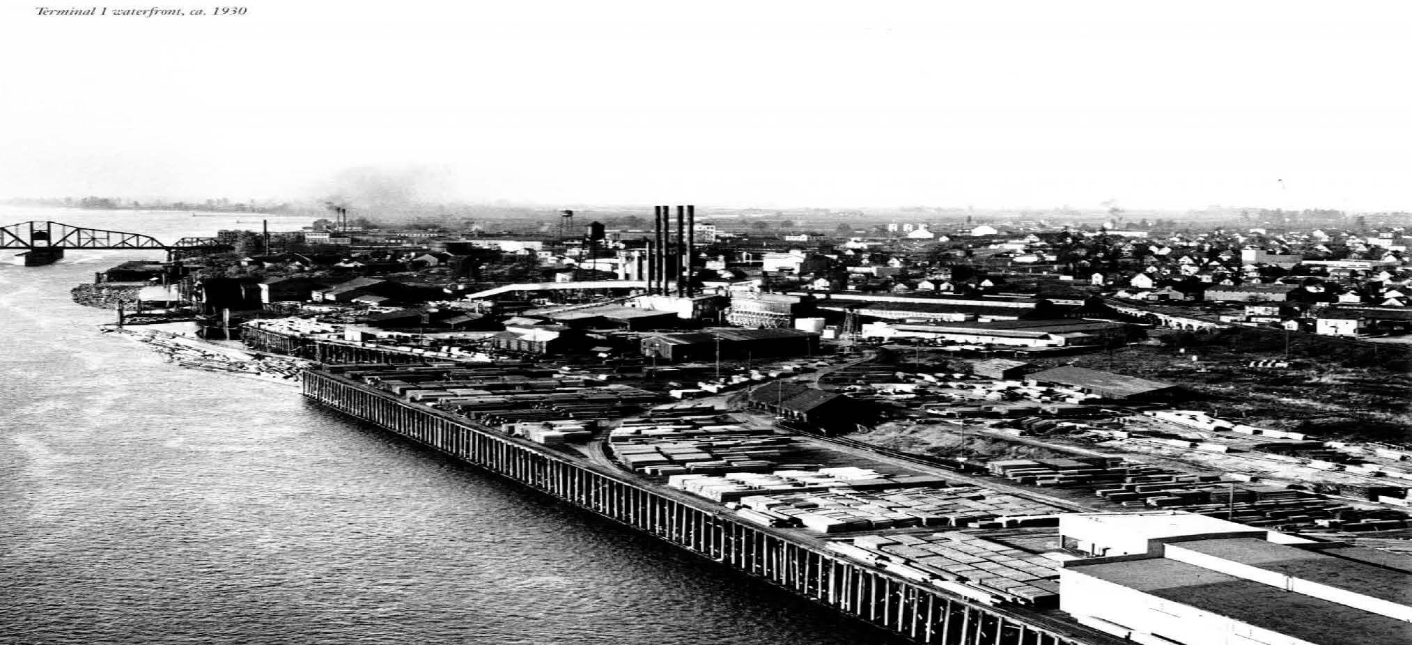 Circa 1930 Port of Vancouver Terminal 1